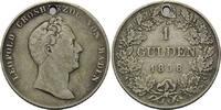 Gulden 1838, Baden, Großherzog Carl Leopold Friedrich, 1830-1852, geloc... 40,00 EUR kostenloser Versand