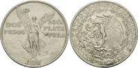 2 Pesos 1921, Mexiko, Unabhängigkeit, winz.Rdf., ss  55,00 EUR kostenloser Versand