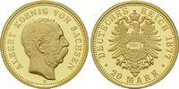 20 Mark 1877/NP 2003, Sachsen, Albert, 1873-1902, Nachprägung, Copy, PP  99,00 EUR kostenloser Versand