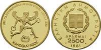 2500 Drachmen 1981, Griechenland, Leichtathletik-EM 1982 in Athen, Etui... 320,00 EUR kostenloser Versand