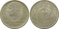 5 Reichsmark 1929 D, Weimarer Republik, Lessing, vz/st kl.Kr.  215,00 EUR kostenloser Versand
