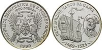 1000 Dobras 1990, Sao Tomè und Principe, Vasco da Gama, Entdecker 1469-... 29,00 EUR kostenloser Versand