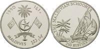250 Rupien 1990, Malediven, Schoner und Palmen, PP  26,00 EUR kostenloser Versand