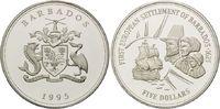 5 Dollars 1992, Barbados, Geschichte der Seefahrt - Erste europäische S... 29,00 EUR kostenloser Versand