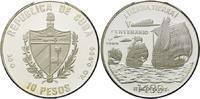 10 Pesos 1989, Kuba, 500 Jahre Entdeckung Amerikas - 3 Segelschiffe off... 28,00 EUR kostenloser Versand