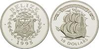 10 Dollars 1995, Belize, Geschichte der Seefahrt - 16 Jh. Karrack, PP  29,00 EUR kostenloser Versand