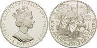 5 Pfund 1992, Falkland Inseln, 400. Jahrestag der Entdeckung, H.M.S. De... 45,00 EUR kostenloser Versand