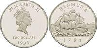 2 Dollars 1993, Bermuda, 200 Jahre Münzprägung, 'Ship`s Penny 1793', PP... 27,00 EUR kostenloser Versand