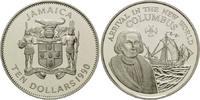 10 Dollars 1990, Jamaika, 500 Jahre Entdeckung Amerikas, Kolumbus vor e... 26,00 EUR kostenloser Versand