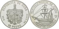 10 Pesos 1992, Kuba, Kubanische Postgeschichte - Besegeltes Dampfschiff... 25,00 EUR kostenloser Versand