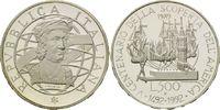 500 Lire 1989, Italien, 500 Jahre Entdeckung Amerikas, Segelschiffe im ... 16,00 EUR kostenloser Versand