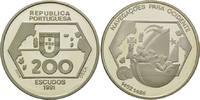 200 Escudos 1991, Portugal, Portugiesische Entdeckungsreise in den West... 26,00 EUR kostenloser Versand