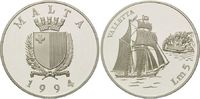 5 Liri 1994, Malta, Geschichte der Seefahrt - Segelschiff Valletta PP  32,00 EUR kostenloser Versand