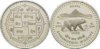 500 Rupien 1993, Nepal, WWF, bedrohte Tierwelt - Kragenbär, offene PP  32,00 EUR kostenloser Versand