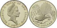 1 Dollar 1980, Neuseeland, Fächerschwanz Vogel, offene PP  26,00 EUR kostenloser Versand