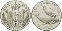 10 Dollars 1992, Niue, WWF, bedrohte Tierwelt - Weißwale, PP  26,00 EUR kostenloser Versand