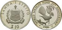 10 Tala 1986, Samoa, 25 Jahre WWF - Vogel, offene PP angelaufen  28,00 EUR kostenloser Versand