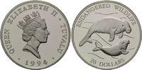 20 Dollars 1994, Tuvalu, WWF, bedrohte Tierwelt - Seekühe, PP  26,00 EUR kostenloser Versand