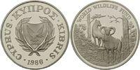 1 Lira 1986, Zypern, WWF, bedrohte Tierwelt - Mufflon, PP  29,00 EUR kostenloser Versand