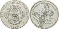 25 Rupien 1994, Seychellen, WWF, bedrohte Tierwelt - Schwalbenwurzfalte... 29,00 EUR kostenloser Versand
