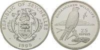 25 Rupien 1995, Seychellen, WWF, bedrohte Tierwelt - Turmfalken, PP  29,00 EUR kostenloser Versand