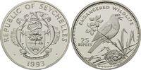 25 Rupien 1993, Seychellen, WWF, bedrohte Tierwelt - Dajaldrossel, PP  29,00 EUR kostenloser Versand