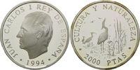 2000 Pesetas 1994, Spanien, WWF, bedrohte Tierwelt - Seidenreiher, PP  28,00 EUR kostenloser Versand