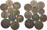 Lot 10 Kleinmünzen 1755-1828 Altdeutsche Staaten, Lot von 10 Pfenning, ... 70,00 EUR kostenloser Versand