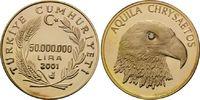 50.000.000 Lira Goldmünze 2001, Türkei, Adler, Auge mit Diamant 0,02 Ka... 295,00 EUR kostenloser Versand