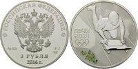 3 Rubel 2014, Russland, Olympiade Sochi - Skeleton mit Farbapplikation,... 54,00 EUR kostenloser Versand