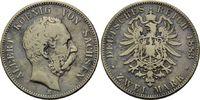 2 Mark 1883, Sachsen, Albert, ss  130,00 EUR kostenloser Versand