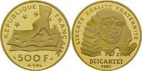 500 Francs Gold 1991, Frankreich, Descartes, PP  729,00 EUR kostenloser Versand