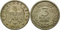 3 Reichsmark 1931 J Weimarer Republik,  ss-vz  520,00 EUR kostenloser Versand