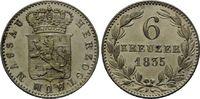 6 Kreuzer 1835, Nassau, Wilhelm I., 1792-1835, vz  19,00 EUR kostenloser Versand