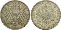 5 Mark 1908 A, Lübeck, Freie und Hansestadt, winz.Rdf., kl.Kr., vz  665,00 EUR kostenloser Versand