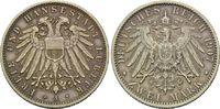 2 Mark 1907 A, Lübeck, Freie und Hansestadt, schöne Patina, kl.Kr., vz  185,00 EUR kostenloser Versand