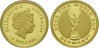 4 Dollars Gold 2006, Australien, 1/25 Unze, FIFA WM in Deutschland, Eli... 62,00 EUR kostenloser Versand