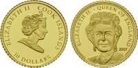 10 Dollars Gold 2007, Cook Inseln, Elisabeth II, PP  59,00 EUR kostenloser Versand