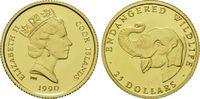 25 Dollars Gold 1990, Cook Inseln, 1/24 Unze, WWF Bedrohte Tierwelt - E... 60,00 EUR kostenloser Versand