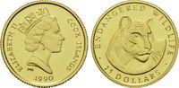 25 Dollars Gold 1990, Cook Inseln, 1/24 Unze, WWF Bedrohte Tierwelt - T... 60,00 EUR kostenloser Versand