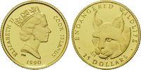 25 Dollars Gold 1990, Cook Inseln, 1/24 Unze, WWF Bedrohte Tierwelt - L... 60,00 EUR kostenloser Versand