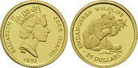 25 Dollars Gold 1991, Cook Inseln, 1/24 Unze, WWF Bedrohte Tierwelt - P... 69,00 EUR kostenloser Versand