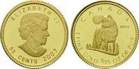 50 Cents Gold 2007, Kanada, 1/25 Unze, Wolf, PP  82,00 EUR kostenloser Versand