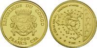 1500 Francs Goldmünze 2007, Kongo Rep., 50 Jahre römische Verträge, st  59,00 EUR kostenloser Versand