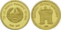 500 Kip Gold 2008, Laos, Patouxai, Sieges Tor, st  49,00 EUR kostenloser Versand