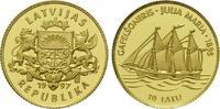 10 Latu Gold 1997, Lettland, 1/25 Unze, Gaffelschoner 'Julia Maria', PP... 84,00 EUR kostenloser Versand