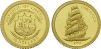 10 Dollars Gold 2006, Liberia, Segelschulschiff Gorch Fock, PP  32,00 EUR kostenloser Versand