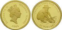 10 Dollars Gold 2005, Solomon Inseln, 1/25 Unze, Gold Wäscher, PP  82,00 EUR kostenloser Versand