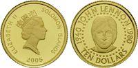 10 Dollars Gold 2005, Solomon Inseln, 1/25 Unze, John Lennon 1940-1980,... 82,00 EUR kostenloser Versand