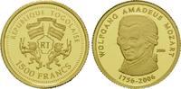 1500 Francs Gold 2006, Togo, 1/25 Unze, Wolfgang Amadeus Mozart, PP  59,00 EUR kostenloser Versand